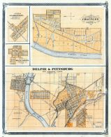 Delphi and Pittsburg, Clarksville, Chauncey, Indiana State Atlas 1876