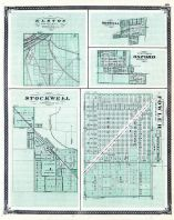 Elston, Boswell, Oxford, Stockwell, Fowler, Indiana State Atlas 1876