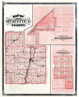 Fayette County, East Connersville, Fayetteville, Indiana State Atlas 1876
