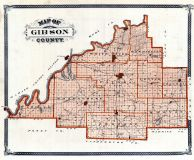 Gibson County, Indiana State Atlas 1876