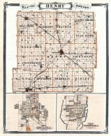 Henry County, Newcastle, Knightstown, Indiana State Atlas 1876