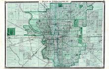 Indianapolis, Indiana State Atlas 1876