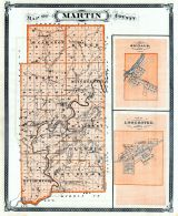 Martin County, Shoals, Loogootee, Indiana State Atlas 1876