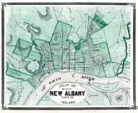 New Albany City, Indiana State Atlas 1876