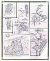 Osgood, New Marion, Versailles, South Milan, Brooklyn, Middleton, Batesville, Vevay, Patriot, Indiana State Atlas 1876