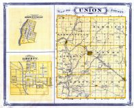 Union County, Brownsville, Liberty, Indiana State Atlas 1876