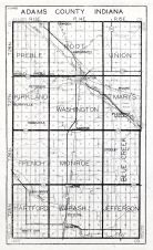 Adams County, Indiana State Atlas 1934