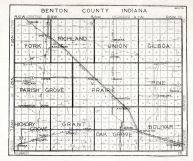 Benton County, Indiana State Atlas 1934