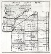 Carroll County, Indiana State Atlas 1934