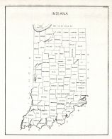 County Map, Indiana State Atlas 1934
