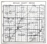 Dekalb County, Indiana State Atlas 1934