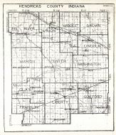 Hendricks County, Indiana State Atlas 1934