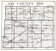 Jay County, Indiana State Atlas 1934