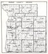 Parke County, Indiana State Atlas 1934