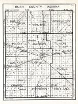 Rush County, Indiana State Atlas 1934