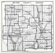 Wayne County, Indiana State Atlas 1934