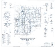 Bartholomew County 1959 - Azalia, Burnsville, Hartsville Crossing, Newbern, St. Louis, Walesboro, Indiana State Atlas 1958 to 1963 Highway Maps