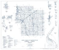 Carroll County 1963 - Rockfield, Bringhurst, burrows, Cutler, Ockley, West Sonora, Radnor, Owasco, Indiana State Atlas 1958 to 1963 Highway Maps