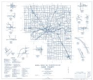Cass County 1962 - Lucerne, Lake Cicott, Dunkirk, Georgetown, Clymers, Young America, Twelve Mile, Indiana State Atlas 1958 to 1963 Highway Maps