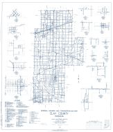 Clay County 1962 - Turner, Saline City, Perth, Ashboro, Coalmont, Benwood, Cardonia, Cory, Howesville, Indiana State Atlas 1958 to 1963 Highway Maps