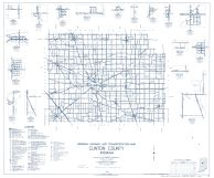 Clinton County 1962 - Kilmore, Moran, Sedalia, Cambria, Hamilton, Jefferson, Scircleville, Antioch, Manson, Indiana State Atlas 1958 to 1963 Highway Maps