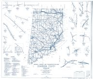 Dearborn County 1962 - Lawrenceville, Weisburg, New Alsace, Kyle, Manchester, Chesterville, Dover, Indiana State Atlas 1958 to 1963 Highway Maps