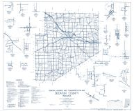 Decatur County 1962 - Kingston, Horace, Waynesburg, Clarksburg, Sandusky, St. Maurice, Adams, Sardinia, Indiana State Atlas 1958 to 1963 Highway Maps