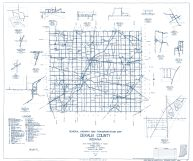 Dekalb County 1960 - Indian Lake, Butler Center, Cedar, Spencerville, Newville, Indiana State Atlas 1958 to 1963 Highway Maps