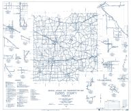 Dubois county 1961 - Portersville, Ireland, Duff, St. Henry, Cuzco, Haysville, Dubois, St. Anthony, Celestine, Indiana State Atlas 1958 to 1963 Highway Maps