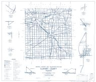 Elkhart County 1959 - Jamestown, south West, Foraker, Locke, Vistula, Benton, New Paris, Indiana State Atlas 1958 to 1963 Highway Maps