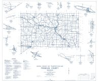 Franklin County 1962 - Huntersville, Raymond, Andersonville, Hamburg, Buena Vista, Scipio, New Trenton, Indiana State Atlas 1958 to 1963 Highway Maps