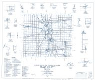 Grant County 1959 - Jalapa, Radley, Michaels, Herbst, Point Isabel, Landess, Roseburg, Indiana State Atlas 1958 to 1963 Highway Maps