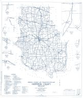 Harrison County 1963 - Bradford, Depauw, Ramsey, Valley City, Indiana State Atlas 1958 to 1963 Highway Maps