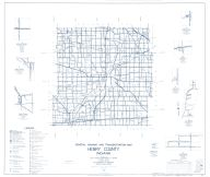 Henry County 1960 - New Lisbon, Mechanicsburg, Honey Creek, Indiana State Atlas 1958 to 1963 Highway Maps