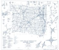 Jackson County 1961 - Rockford, Surprise, Clear Spring, Norman Station, Freetown, Retreat, Houston, Vallonia, Indiana State Atlas 1958 to 1963 Highway Maps
