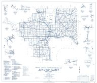 Jefferson County 1963 - Canaan, Manville, Dupont, Deputy, Volga, Kent, Indiana State Atlas 1958 to 1963 Highway Maps