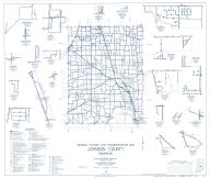 Johnson County 1961 - Mount Pleasant, Nineveh, Stones Crossing, Samaria, Needham, Urmeyville, Smith Valley, Indiana State Atlas 1958 to 1963 Highway Maps