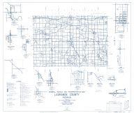 LaGrange County 1959 - Mongo, Brighton, South Milford, Elmira, Shrock, Valentine, Stroh, Ontario, Emma, Indiana State Atlas 1958 to 1963 Highway Maps