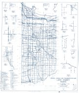 Lake County 1960 - Palmer, Creston, Cook, Shelby, Leroy, Indiana State Atlas 1958 to 1963 Highway Maps