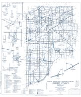 Laporte County 1961 - Otis, Pinola, Wanatah, Hanna, Indiana State Atlas 1958 to 1963 Highway Maps