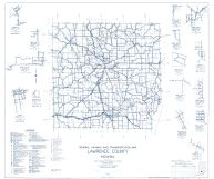Lawrence County 1959 - Springville, Pattonville, Williams, Bryantsville, Huron, Guthrie, Heltonville, Peerless, Leesville, Indiana State Atlas 1958 to 1963 Highway Maps