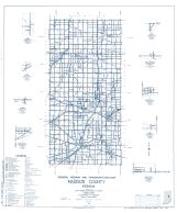 Madison County 1960 - Florida, Alfont, Linwood, Fishersburg, Rigdon, New Columbus, Perkinsville, Gilman, Indiana State Atlas 1958 to 1963 Highway Maps
