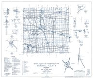 Marshall County 1962 - Tippecanoe, Donaldson, Teegarden, Inwood, Walnut, Tyner, Old tip Town, Burr Oak, Hibbard, Indiana State Atlas 1958 to 1963 Highway Maps