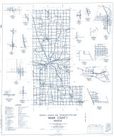 Miami County 1960 - Deedsville, New Santa Fe, Chili, Bennetts Switch, Wawpecong, Gilead, Birmingham, Mexico, Indiana State Atlas 1958 to 1963 Highway Maps