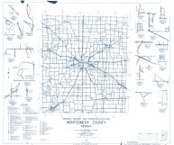 Montgomery County 1960 - Elmdale, Browns Valley, Parkersburg, Shannondale, Mace, Linnsburg, Whitesville, Indiana State Atlas 1958 to 1963 Highway Maps