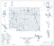 Noble County 1959 - Cosperville, Wawaka, Wolf Lake, Brimfield, Swan, Kimmell, Laotto, Indiana State Atlas 1958 to 1963 Highway Maps