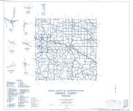 Orange County 1963 - Prospect, Leipsic, Youngs Creek, Chambersburg, Newton Stewart, Valeene, Indiana State Atlas 1958 to 1963 Highway Maps