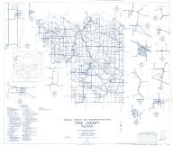 Pike County 1963 - Oatsville, Glezon, Velpen, Ayrshire, Union, Arda, Alford, Algiers, Otwell, Cato, Arthur, Campbelltown, Indiana State Atlas 1958 to 1963 Highway Maps