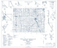 Pulaski County 1962 - Denham, Ripley, Star City, Lawton, Thornhope, Indiana State Atlas 1958 to 1963 Highway Maps