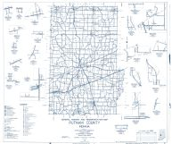 Putnam County 1961 - Manhattan, Morton, Putnamville, Belle Union, Groveland, Mt. Meridian, Limedale, Fillmore, Indiana State Atlas 1958 to 1963 Highway Maps